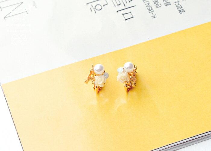 巴黎鐵塔夾式耳環,無耳洞耳環,螺旋夾耳環