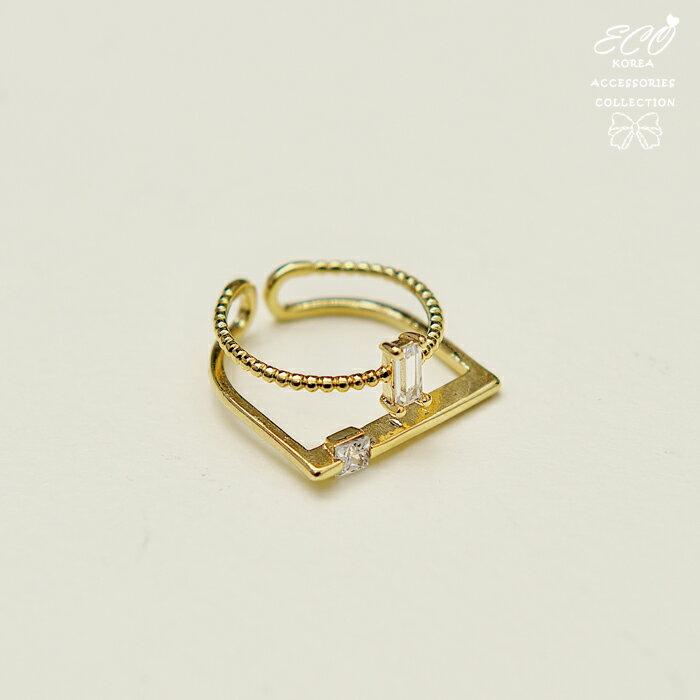 細邊,交錯,簡約,氣質,流線v型,韓製,韓國,韓貨,戒指