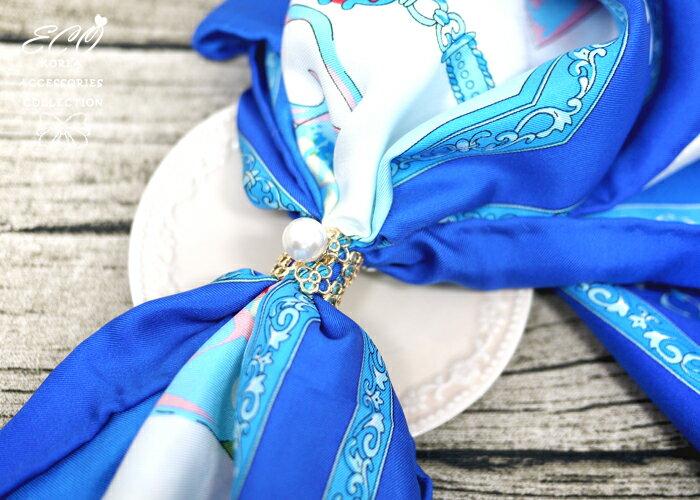 花朵,蛋白石,,珍珠,鑽,絲巾釦,絲巾環,三環,服飾配件