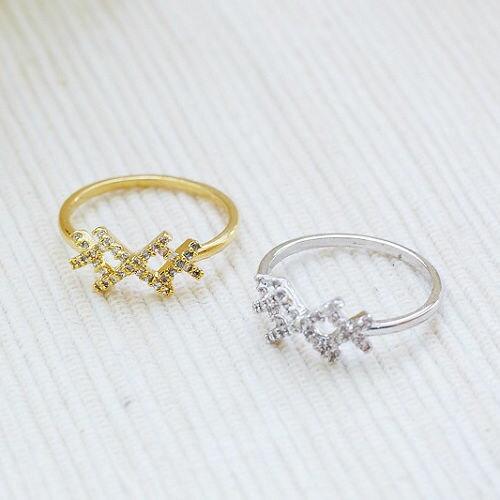 ●ECO安珂● 藩籬格文綴碎鑽 戒指【4-286】