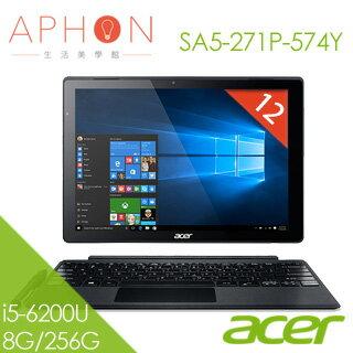 【Aphon生活美學館】ACER Switch Alpha 12 SA5-271P-574Y i5-6200U 12吋 QHD筆電(8G/256G SSD/Win10)-送acer藍芽滑鼠