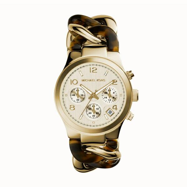 美國Outlet正品代購 MichaelKors MK 玳瑁三環 手鍊 手錶 腕錶 MK4222 2