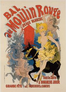 法國Moulin Rouge 紅磨坊舞者海報 (A4)
