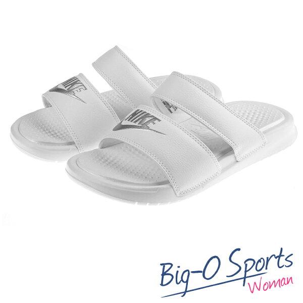 2016新款  NIKE 耐吉  WMNS BENASSI DUO ULTRA SLIDE 運動拖鞋 白 819717100  Big-O Sports