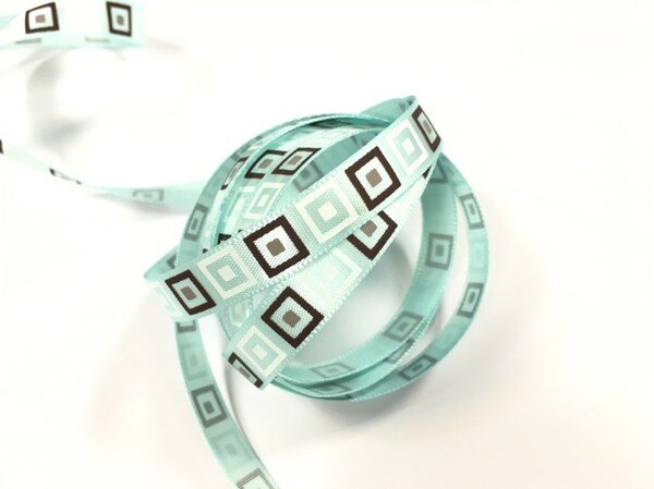 【Crystal Rose緞帶專賣店】單緞面方格10mm3碼裝(2色)