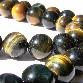 [藍虎眼]天然寶石 10mm圓形珠 diy飾品散珠 1
