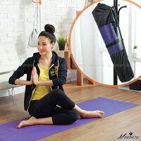 野餐墊防水耐磨超推薦瑜珈團購熱銷 日本MAKINOU-6mm瑜珈墊+瑜珈袋+束帶-台灣製|地墊 野餐墊 塑身 美體