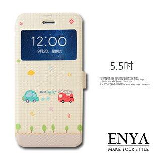 iPhone6+/6S+ Plus 5.5吋 現貨 卡丁車彩繪視窗皮套(郵局免運)Enya恩雅