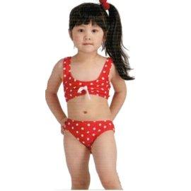 [陽光樂活] Let's jet 雷氏吉兒 女童兩件式泳衣 附泳帽 2218-07B