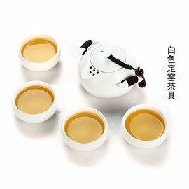 【自在坊】 企鵝壺款 ( 一壺四杯組)  定窯 茶具 冰裂開片 功夫茶具 品茗杯 茶壺 茶海 套組禮盒旅行組 自在坊