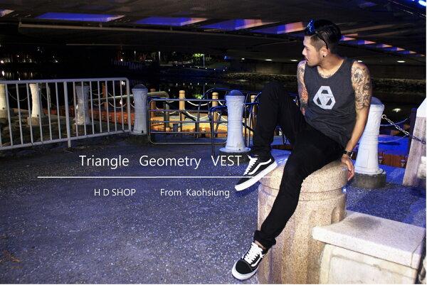 HD SHOP  Triangle Geometry 長版圓弧背心
