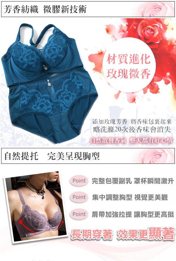 【Favori】魔力 玫情芬芳BCD罩杯內衣 (丹寧藍) 4