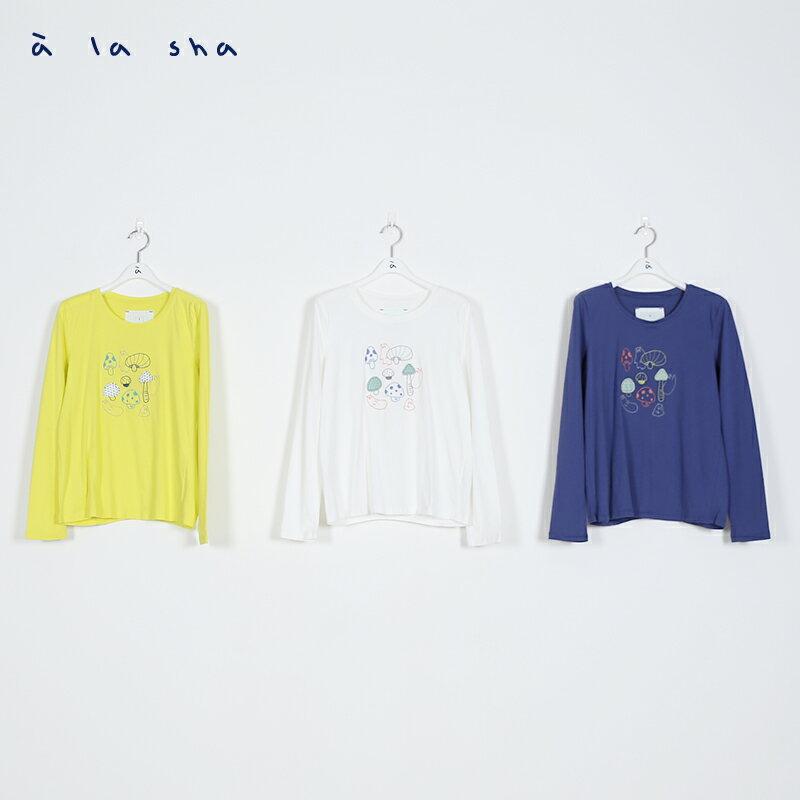 a la sha Qummi 磨菇貼布繡長袖T恤 2