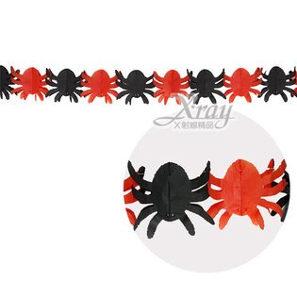 X射線【W405433】蜘蛛拉花(3尺),萬聖節/櫥窗/佈置/裝飾/擺飾/會場佈置/紙串/壁貼/布旗/店面裝飾/道具/吊飾/拉條/彩條