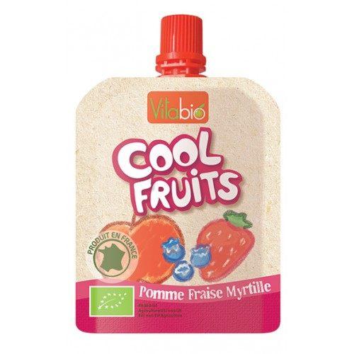 【安琪兒】法國【倍優babybio】VITABIO 有機優鮮果-蘋果、草莓、藍莓90g(12個月以上) - 限時優惠好康折扣