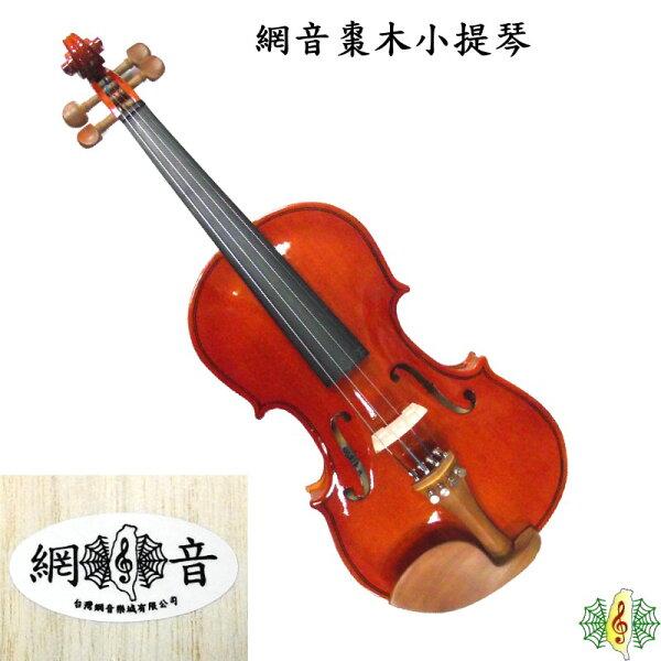 小提琴 [網音樂城] 網音 棗木 4/4 入門 初學 Violin (贈 琴盒 調音器 教材)
