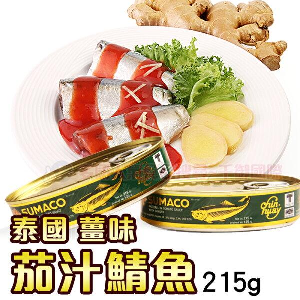 泰國 薑味茄汁鯖魚215g 罐頭 [TH8850026209268] 千御國際
