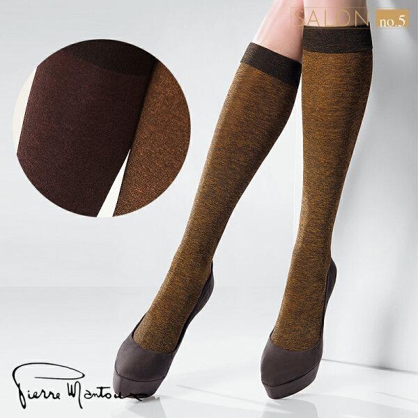 {55折} 皮爾曼都Pierre Mantoux多彩亮色雪花色及膝襪 歐洲進口絲襪