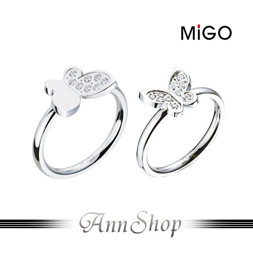 AnnShop小安的店~米格 MiGO‧青春飛揚白鋼戒指~~單個~情人 SR668~SR6