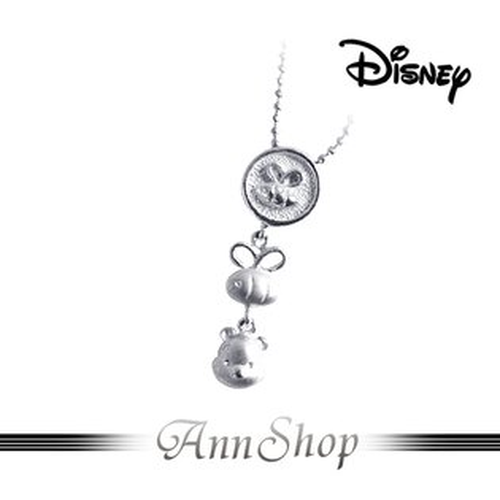 AnnShop小安的店【迪士尼‧燦爛維尼項鍊】【限量預購】pooh蜜蜂純銀飾品S1WP022