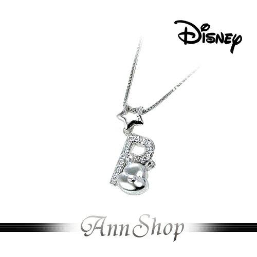 AnnShop小安的店【迪士尼‧維尼愛戀項鍊】【限量預購】純銀水鑽星星飾品S1WP044