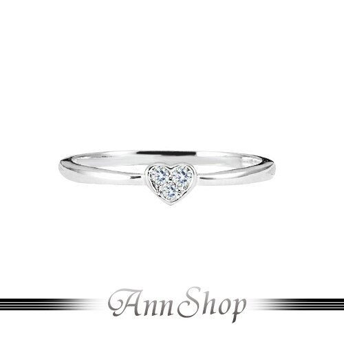 AnnShop~簡約心鑽純銀戒指.925純銀~情人 RB~1067 ~  好康折扣
