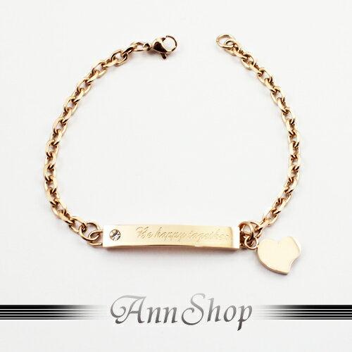 AnnShop小安的店【316L鋼‧心靈物語白鋼手鍊】情人禮物 b3140-1