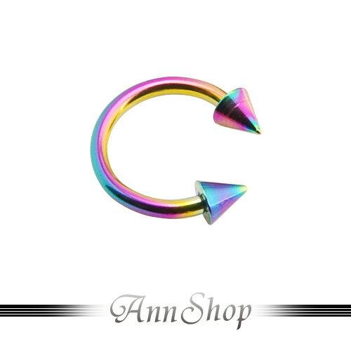 AnnShop【尖頭彩色U型環•316L鋼】小安的店人體另類穿洞s5008