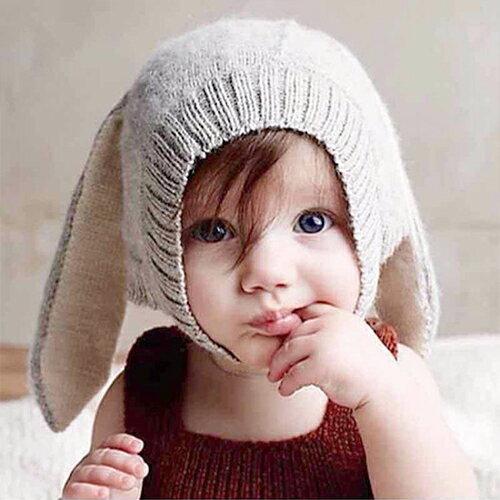 毛帽 萌卡通可愛兔兔耳朵針織毛線帽【YJM-A165】 BOBI  10/13 0