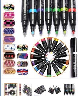 50%OFF【L011543NA】美甲批發 3D美甲彩繪筆 點花筆 畫花筆 美甲兩用指甲油筆 16色