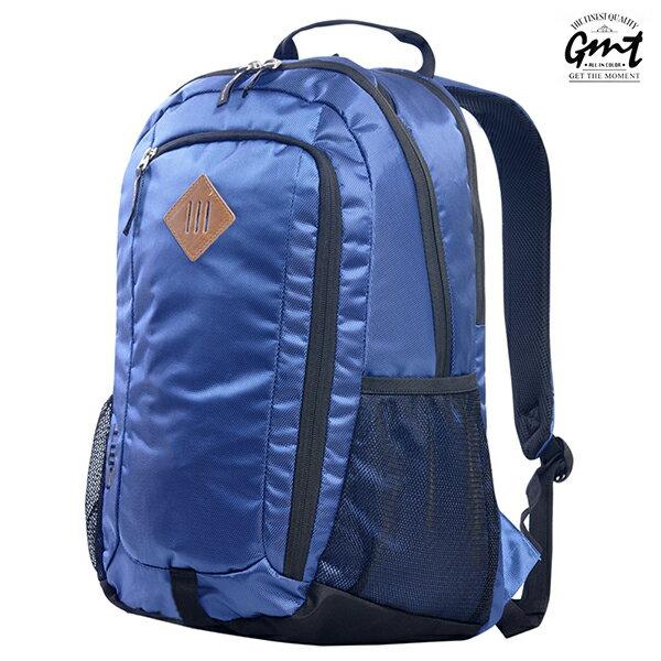 E&J【011009-04】免運費,GMT挪威潮流品牌 專業電腦背包 深藍 附15吋筆電夾層;登山包/雙肩豬鼻包