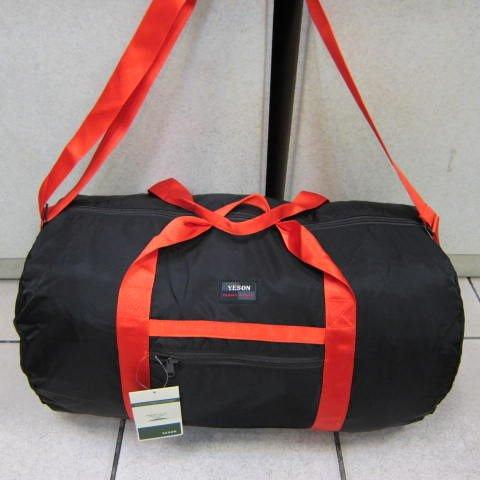 ~雪黛屋~YESON 折疊收納圓筒旅行袋 可外掛行李箱拉桿上並用 收納採購備用環保袋 F668黑