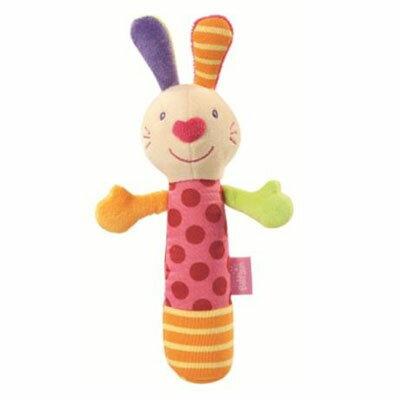 【悅兒樂婦幼用品舘】babyFEHN 芬恩 探險家棒型小兔布偶手搖鈴