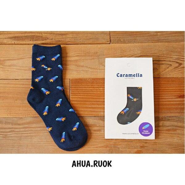 【開幕促銷】Caramella 小火箭 中筒襪 短襪 船襪 隱形襪 五指襪 文青情侶 運動穿搭 阿華有事嗎 C0013