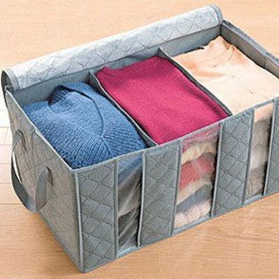 可透視衣物整理袋 棉被收納袋65L 隨機出貨#NH010041