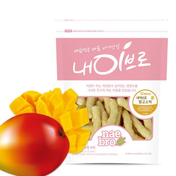 【安琪兒】韓國 【NAEBRO】芒果條點心/餅乾 40g-12個月以上適用 - 限時優惠好康折扣