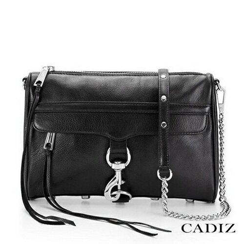 【Cadiz】美國正品 Rebecca Minkoff 黑色銀釦鍊條單肩側背包 [Clutch Mac/ 代購/ 現貨] 0