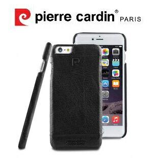 [ iPhone6/6S ] Pierre Cardin法國皮爾卡登4.7吋高級牛皮品牌經典不敗款真皮手機殼/保護殼 黑色