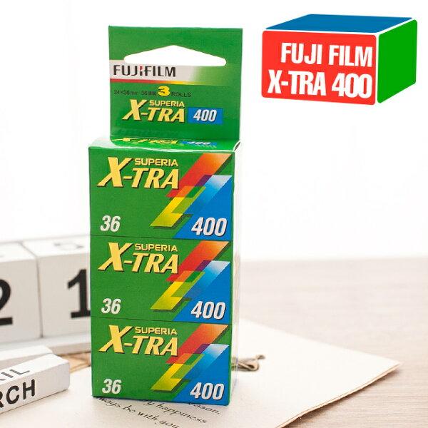 NORNS【Fujifilm 400度 X-TRA彩色負片 3入裝】富士400膠捲底片 lomo底片 Superia軟片