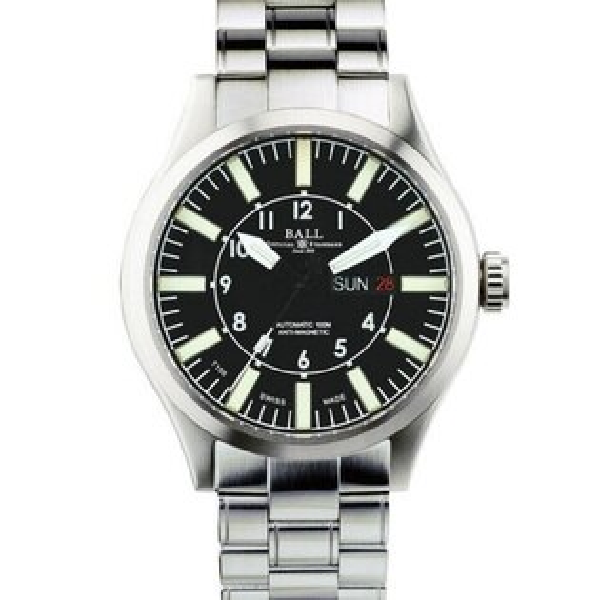 BALL 波爾錶NM1080C-S3-BK Engineer II大燈管經典大錶徑腕錶/黑面46mm