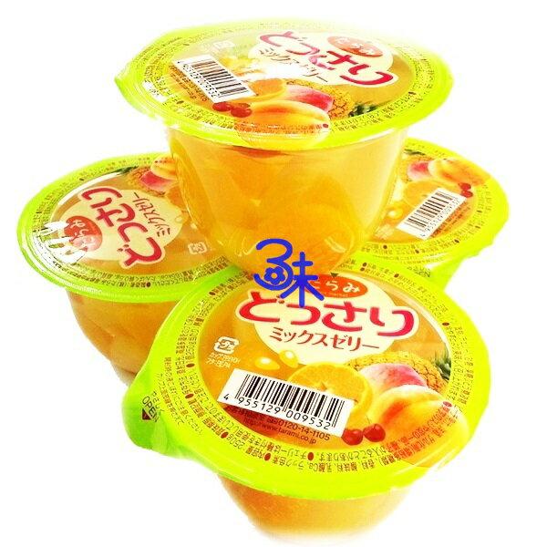 (日本)Tarami 達樂美 鮮果果凍杯-綜合水果 1組 3個(250g*3個) 特價170 元【 4955129009532】(平均1個 56.6 元)