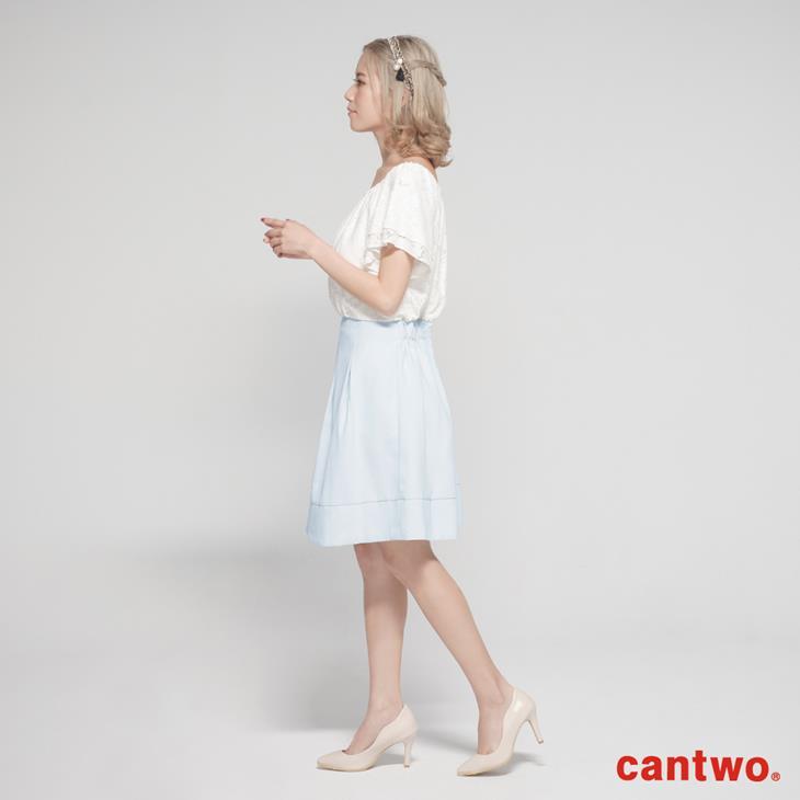 cantwo蕾絲雙層荷葉袖洋裝(共二色) 2