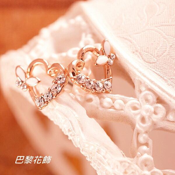 甜美馨香 俏麗活潑水晶耳環~巴黎花飾~