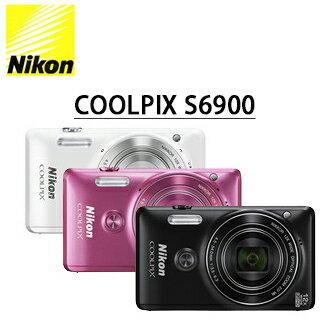 ★分期零利率★  送16G高速記憶卡+靜電抗刮保護貼     Nikon COOLPIX S6900 數位相機  自拍神器 國祥公司貨