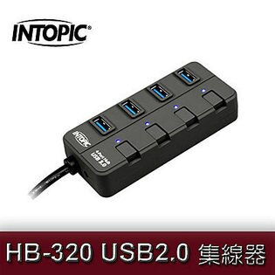 INTOPIC 廣鼎 HB-320 USB3.0 USB HUB 集線器 4 Port 4組開關 [天天3C]