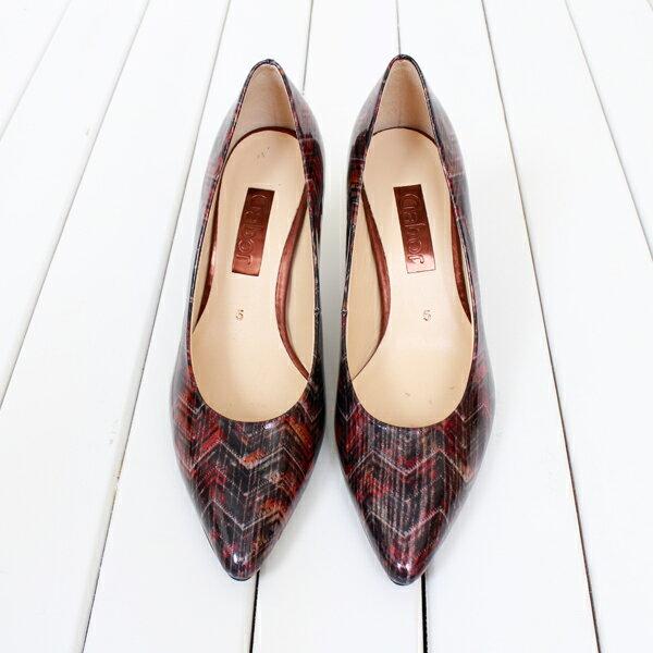 Gabor 菱紋未來感時尚低跟鞋 7