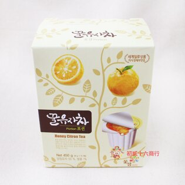 【0216零食會社】韓國膠囊蜂蜜柚子茶(15入)450g