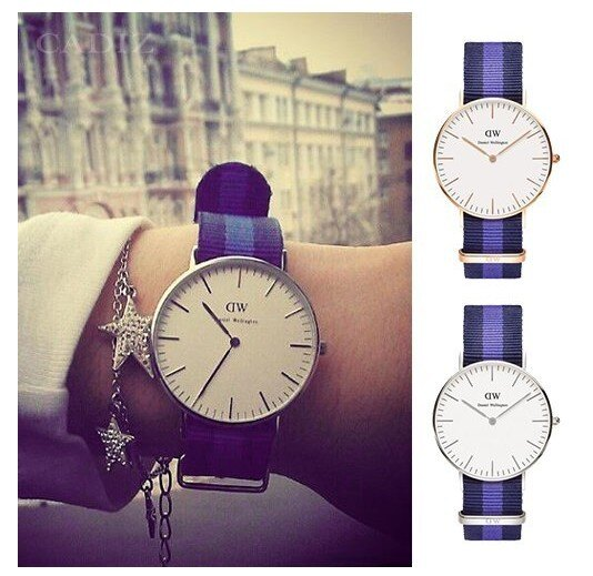 瑞典正品代購 Daniel Wellington 0504DW 玫瑰金 尼龍 帆布錶帶 女錶手錶腕錶 36MM 1