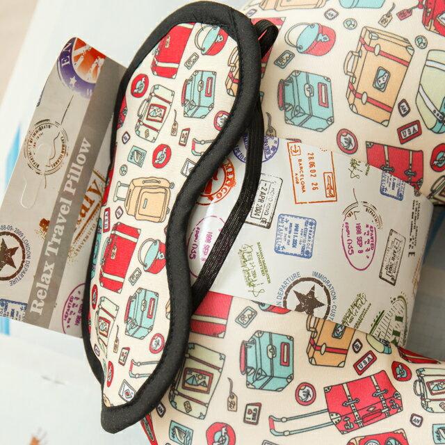 旅人眼罩+頸枕  紓壓/休息 便利實用   3色可選 4