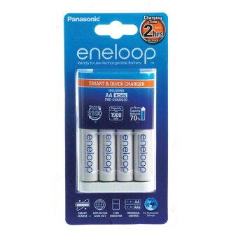 ◎相機專家◎ Panasonic eneloop 低自放充電電池3號+快充電池組 BQ-CC16 2小時快速充電